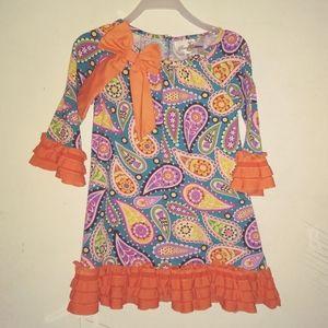 4T girls orange dress